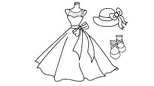 Tranh tô màu váy công chúa siêu lộng lẫy dành cho các bé gái