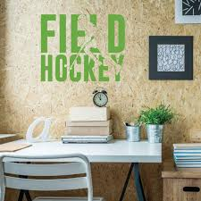 Field Hockey Wall Decor Vinyl Decor Wall Decal Customvinyldecor Com