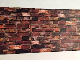 rust red brown brick fireplace sticker