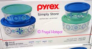 pyrex decorated glass food storage