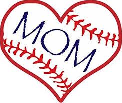 Amazon Com Wickedgoodz Die Cut Baseball Mom Vinyl Decal Sports Sticker For Mom Automotive