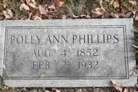 Polly Ann (Patterson) Phillips (1852-1932) | WikiTree FREE Family Tree