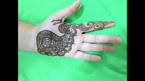 simple front half hand mehndi designs