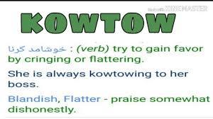 Kowtow meaning in urdu hindi - YouTube