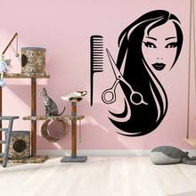 Discount New Design Barber Shop House Decortion Removable Art Vinyl Wall Stickers For Hairstyle Wallpaper Commercial Vinyl Decals Hot Selling Ji9ajbgva