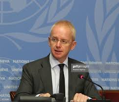 UNHCR spokesman Adrian Edwards speaks during a press conference on... News  Photo - Getty Images