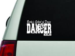 Dancer Window Decal Personalized With School And Childs Name By Vinylandblingdivas On Etsy Window Decals Kid Names Decals