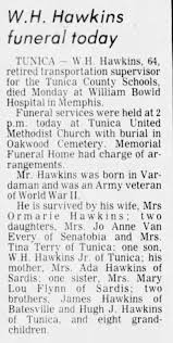 Obituary for W.H. Hawkins (Aged 64) - Newspapers.com