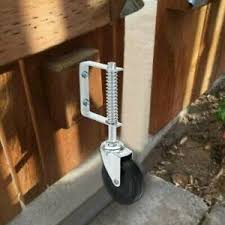 4inch Spring Loaded Rubber Wheel Gate Caster Gate Support Wood Chain Link Fences Ebay