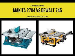 Makita 2704 Vs Dewalt 745 Reviews Comparison 2019 Machine Fanatic