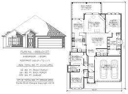 narrow 1 story floor plans 36 to 50