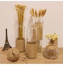 z hemp rope glass vase flower