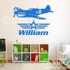 Airplane Aircraft Planes Tiger Shark Custom Wall Name Vinyl Wall Decal Sticker Ebay