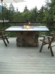 propane fire pit dining table