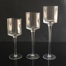 3pcs set votive glass candle holder