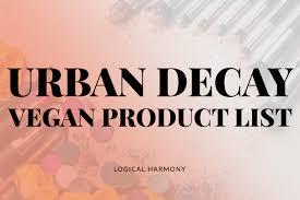 urban decay vegan s list