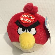 Blue Yellow Birds Set of 3 Angry Birds Plush 4-inch Red