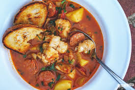 Spicy Fish Stew with Saffron and ...