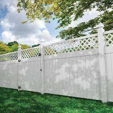 Veranda Anderson 6 Ft X 8 Ft White Vinyl Lattice Top Fence Panel 73040108 The Home Depot