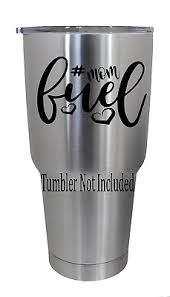 Momfuel Mothers Moms Decal For Yeti Tumblers Ozark Trail Stickers 3 5 X 3 6 Ebay