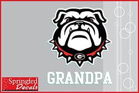 Amazon Com Georgia Bulldogs Grandpa W Spike Dog Vinyl Decal Car Truck Window Sticker Uga Everything Else