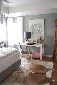 grey walls contemporary bedroom