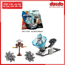 LARI 11324 Lắp ghép Ninjago Spinjitzu Slam Zane - Đồ chơi Xếp hình Mô hình Con  quay lốc xoáy Ninja BELA 70683