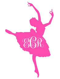 Ballerina With Monogram Decal Silhouette Cameo Projects Vinyl Tshirts Silhouette Crafts