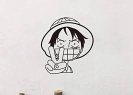 Amazon Com Tioua Wall Decal Sticker Luffy One Piece Car Wall Stickers Japanese Cartoon Decals Vinyl Decal Sticker Home Decoration Home Kitchen