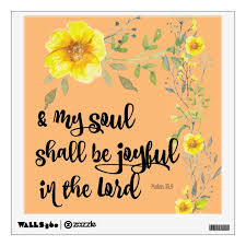 Yellow Floral Joy Bible Verse Wall Decal Zazzle Com