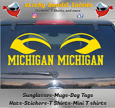 U Of M Michigan Wolverines 6 Inch Window Vinyl Decal Sticker Ebay