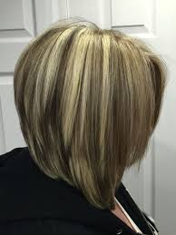 Graduated Bob With Blonde Highlights And Dark Brown Lowlights