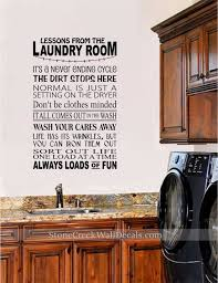 Lessons From The Laundry Room Vinyl Wall Decal Large Vinyl Etsy
