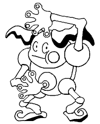 Pokemon Coloring Pages Mr Mime