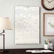 Winston Porter Yearly Dry Erase Calendar Whiteboard Wall Decal Wayfair
