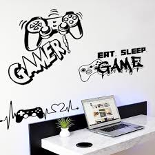 Diy Hot New Gamer Vinyl Wall Sticker For Game Room Decor And Kids Room Decoration Bedroom Decor Door Stickers Wish