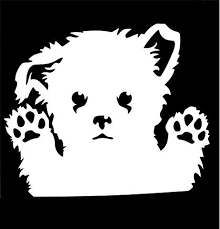 Maltese Peeking Decal Vinyl Sticker Cars Trucks Walls Laptop White 5 5 In Uri253 Dog Icon Animal Silhouette Dog Peeking