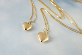 mother and daughter solid 14k gold