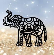 Elephant Decal Elephant Sticker Vsco Water Etsy