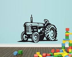 Tractor Wall Decal Etsy