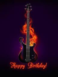 rockstar birthday happy birthday guitar