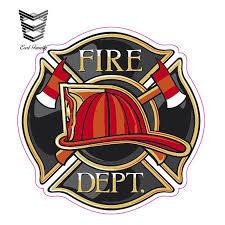 Fire Department Logo Firefighter Dept Car Truck Window Decal Vinyl Sticker Usa