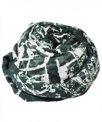 celtic irish print dark green scarf