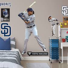 San Diego Padres Manny Machado Fathead 9 Pack Life Size Removable Wall Decal