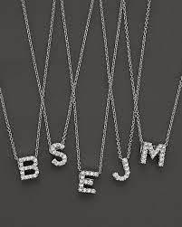 initial love letter pendant necklace