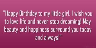 birthday wishes to my daughter happy birthday to my little g