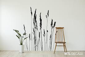 Reeds Wall Decal Nature Grass Wall Vinyl Sticker 50 X 65 Mtl Decals