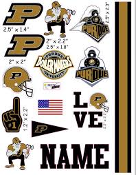 Purdue Cranial Band Decoration From High Quality Vinyl For Baby Helmets