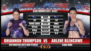 AFC 19 - Rhiannon Thompson Vs Arlene Blencowe - YouTube
