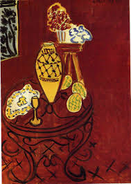 henri matisse interior in venetian red